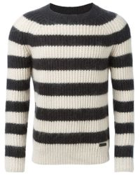 Burberry Brit - Natural Striped Sweater for Men - Lyst