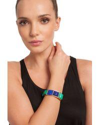 Trina Turk Multicolor Resin Cuff Hinge Bracelet