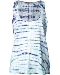 Proenza Schouler | Blue Jersey Tie Dye Tank | Lyst