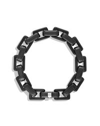 David Yurman - Black Royal Cord Link Bracelet for Men - Lyst