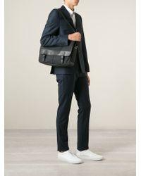 Burberry   Black Leather Trim Messenger Bag for Men   Lyst