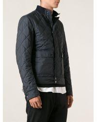 Ferragamo - Blue Quilted Jacket for Men - Lyst