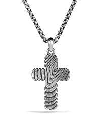 David Yurman - Metallic Iron Wood Cross On Chain for Men - Lyst