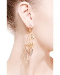 Daniela Villegas - Metallic Quail Skeleton Earrings - Lyst