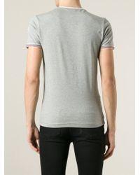 Moncler - Gray Classic T-Shirt for Men - Lyst