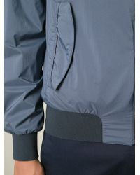 Herno - Blue Classic Bomber Jacket for Men - Lyst