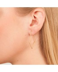 Dutch Basics - Metallic Ruit Creole Earrings Rose Gold - Lyst