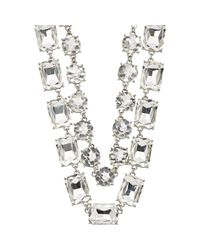 Kenneth Jay Lane | Metallic Women's Double-strand Crystal Necklace | Lyst
