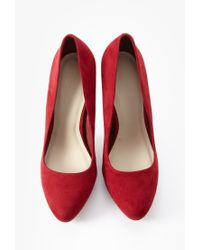 Forever 21 | Red Faux Suede Pumps | Lyst