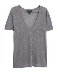 Mango Gray Patch Pocket T-shirt