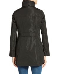 Ellen Tracy | Black Petite Packable Rain Jacket | Lyst