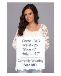 Stetson - White Crochet Lace Tunic - Lyst