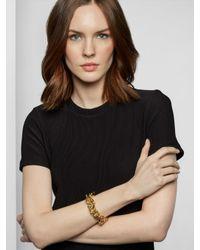 BaubleBar Metallic Gold Mary Links Bracelet