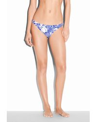 MILLY - Blue Zebra King St. Lucia Bikini Bottom - Lyst