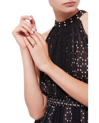 Jacquie Aiche Freeform And Raw Pink Tourmaline Pave Bar Ring