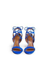 Aquazzura Blue 'colette' Lace-up Sandals