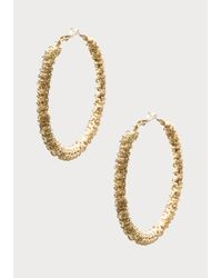 Bebe | Metallic Oversized Hoop Earrings | Lyst