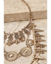 Forever 21 - Metallic Engraved Bib Necklace - Lyst