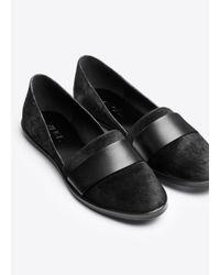 Vince Black Mason Calf-Hair and Leather Loafers