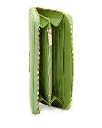 Tory Burch - Stacked Continental Zip Wallet Green - Lyst