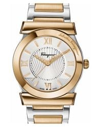 Ferragamo | Metallic 'vega' Bracelet Watch | Lyst
