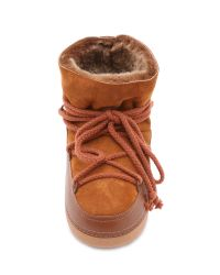 Ikkii | Brown Leather and Suede Snow Boots | Lyst