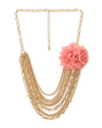 Forever 21 | Metallic Full Bloom Layered Necklace | Lyst