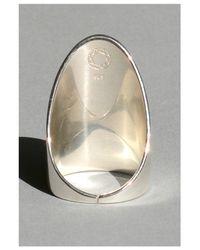 Saskia Diez | Metallic Mighty Oval Ring | Lyst