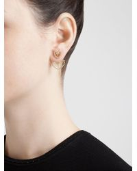 Yvonne Léon | Metallic Diamond Foliage Lobe Earring | Lyst