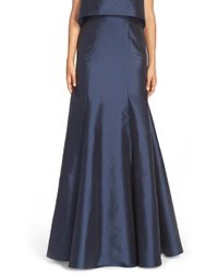 Monique Lhuillier Bridesmaids | Blue Floor Length Taffeta Mermaid Skirt | Lyst