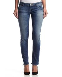 Hudson Jeans | Blue Collin Midrise Skinny | Lyst