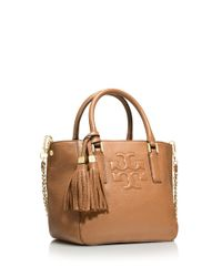 Tory Burch Brown Thea Mini Bucket Bag