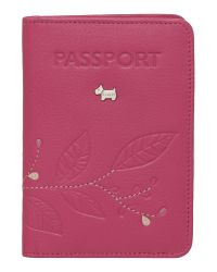 Radley Laurel Leaf Pink Pasport Cover