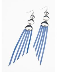 Free People - Blue Half Moon Leather Dusters - Lyst