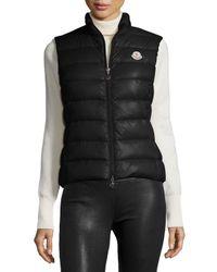 Moncler - White Ghany Zip Puffer Vest - Lyst