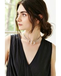 Urban Outfitters - Metallic Linked Chain Choker Necklace - Lyst