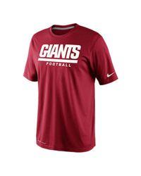 Nike Red Men'S Short-Sleeve New York Giants Dri-Fit T-Shirt for men