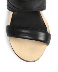 Rag & Bone Black Shaw Mule Wedge Sandals