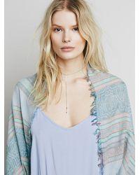 Free People - Blue Womens Waverly Cocoon Kimono - Lyst
