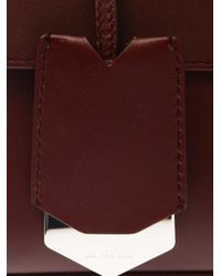 Balenciaga - Purple Le Dix Pochette Leather Clutch - Lyst