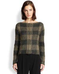Rag & Bone - Green Cammie Checked Sweater - Lyst