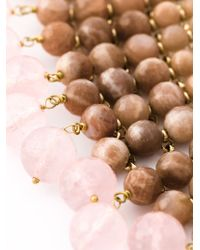 Rosantica | Pink Beaded Collar Necklace | Lyst