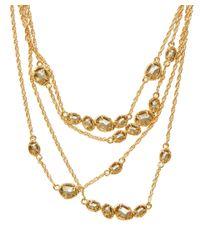 Alexis Bittar Metallic Gold-Tone Moonlight Multi Strand Bib Necklace