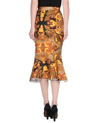 Givenchy Orange Fishtail Skirt