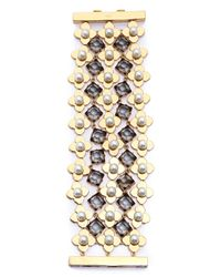 Tory Burch - Multicolor Babylon Mesh Bracelet  Ivoryshiny Gold - Lyst