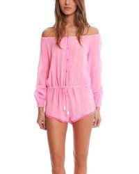 LoveShackFancy Pink Playsuit