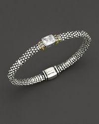 "Lagos | ""glacier"" Rope Bracelet With White Topaz Stone | Lyst"