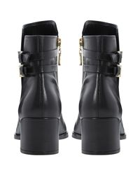 Dune Black Nima Block Heeled Ankle Boots