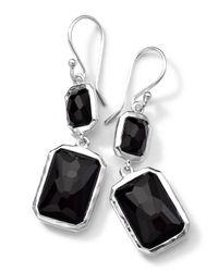 Ippolita | Metallic Sterling Silver Wonderland Rectangular Mini-drop Earrings In Onyx | Lyst