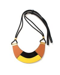 Marni | Yellow Leather Necklace | Lyst